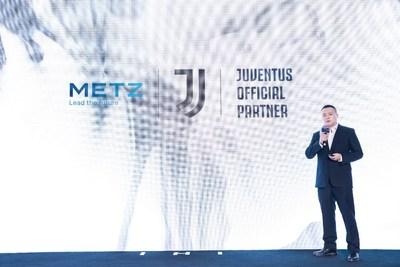 METZ blue annonce un partenariat de marque avec la Juventus, un club de football de renommée mondiale, pour soutenir son plan d'expansion à l'international