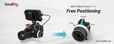 SmallRig Mini Follow Focus, featured with free positioning of A/B stop to ensure control accuracy for video creators