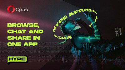 Opera expands Hype, an in-browser chat service to Opera Mini users in South Africa, Zambia and Ghana