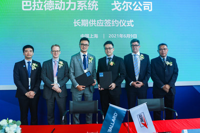 Ballard and Gore celebrate their new multi-year collaboration at FCVC 2021 in Shanghai.