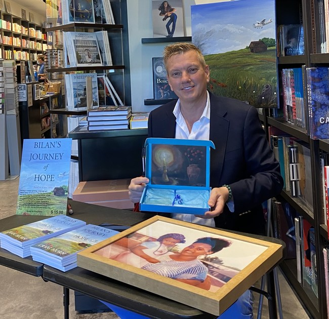 Craig Biorn at his book signing at Books & Books in Bal Harbour, FL