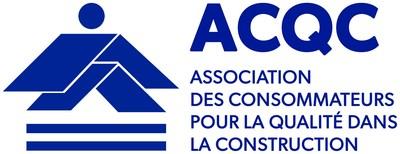 Logo Association des consommateurs pour la qualité dans la construction (Groupe CNW/Regroupement des gestionnaires et copropriétaires du Québec (RGCQ))