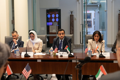 Assistant Minister for Economic and Trade Affairs HE Abdulnasser Alshaali delivering remarks at the U.S.-UAE Economic Policy Dialogue on June 8th, 2021.