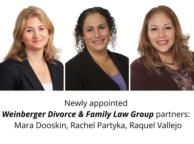 Weinberger Divorce & Family Law Group names three new partners