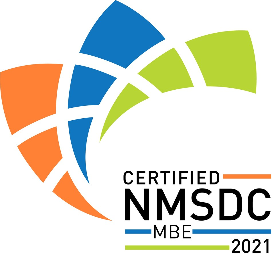 Certified Minority Business Enterprise (MBE) by the National Minority Supplier Development Council (NMSDC)