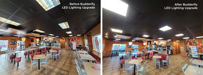 Budderfly LED Lighting Upgrade In Outlaw Enterprises' KFC and Taco Bell Franchise