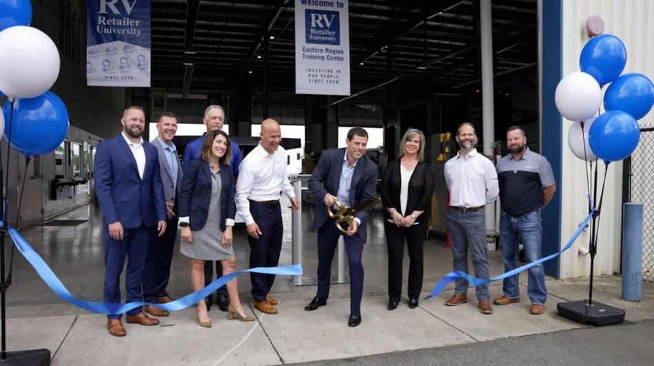 RV Retailer CEO and President Jon Ferrando alongside RV Retailer's executive team