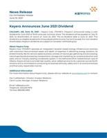 Keyera Announces June 2021 Dividend (CNW Group/Keyera Corp.)