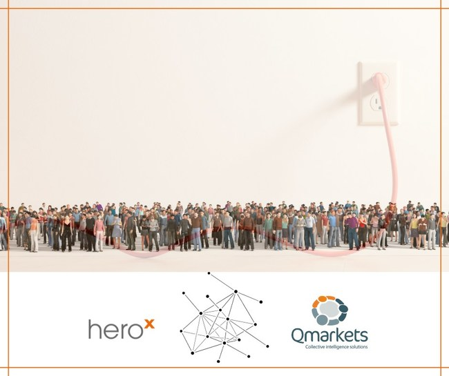 Qmarkets adds capability to plug into the HeroX Global Innovator Crowd