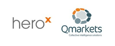 HeroX and Qmarkets Logo