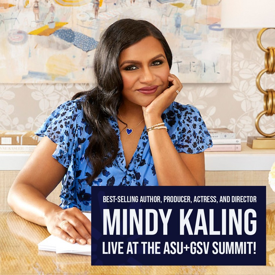 Mindy Kaling announced as closing keynote speaker at ASU+GSV Summit live and in-person in San Diego.