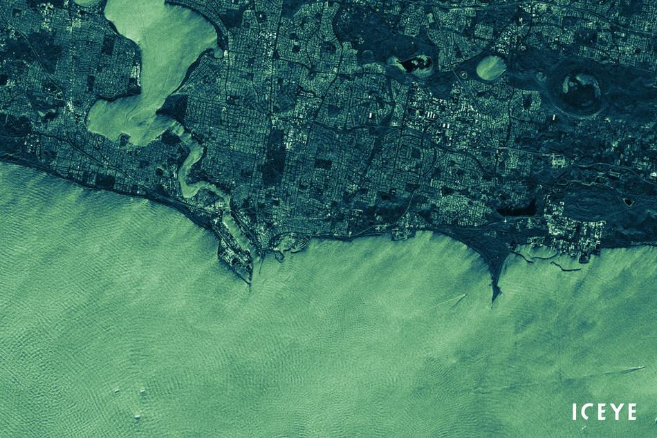 ICEYE SAR satellite image of Fremantle available through the ESA Earthnet Programme
