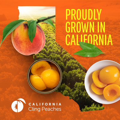 CA Cling Peaches - Proudly Grown in California