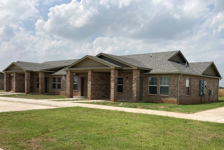 Recently completed senior living complex, Tennyson Manor located in Enid, OK