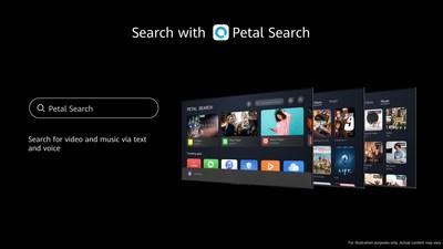 Petal Search no HUAWEI Vision (PRNewsfoto/Huawei)