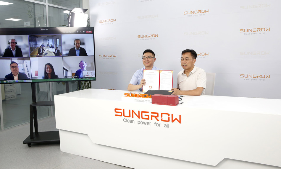 Sungrow and Krannich Solar Signed the Agreement Online
