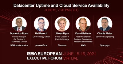 proteanTecs, Amazon Web Services, Siemens, and Synopsys to participate in GSA European Executive Forum discussion on Datacenter Uptime and Cloud Service Availability