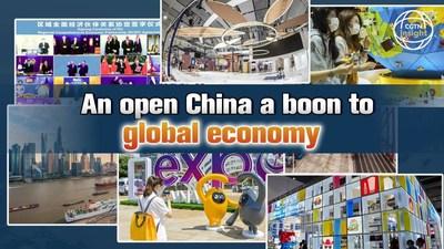 Uma China aberta é uma dádiva para a economia mundial (PRNewsfoto/CGTN)