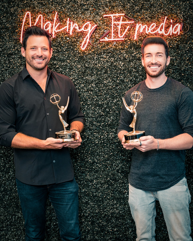 Pictured (left to right): Making It Media CEO and 'Staycation' Executive Producer and Host Robert Parks-Valletta and 'Staycation' Director Marvin Nuecklaus. (PRNewsfoto/Making It Media)
