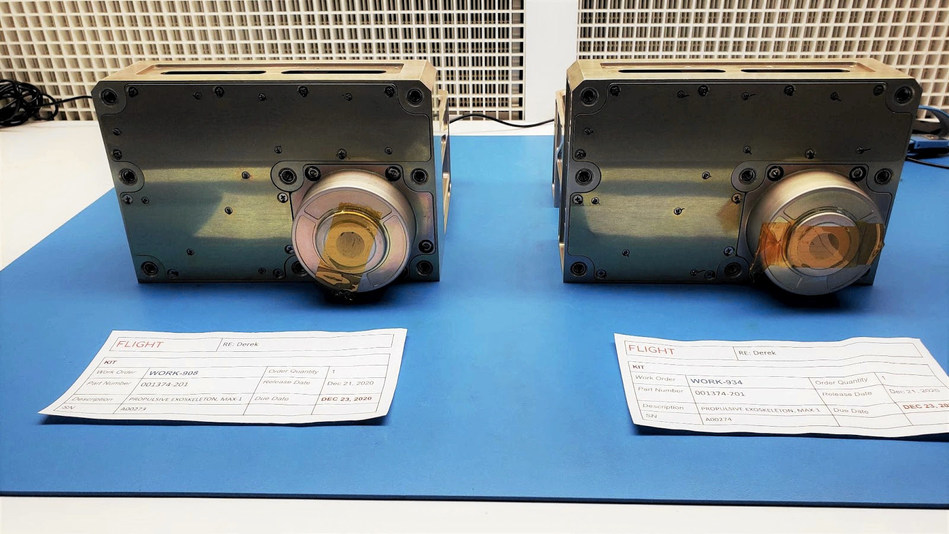Two recently built Maxwell engine flight units ready for delivery