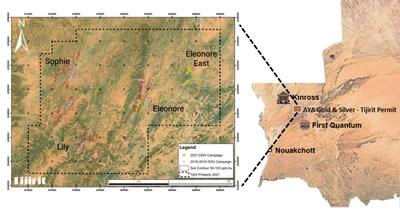Figure 1: Tijirit Property Location (CNW Group/Aya Gold & Silver Inc)