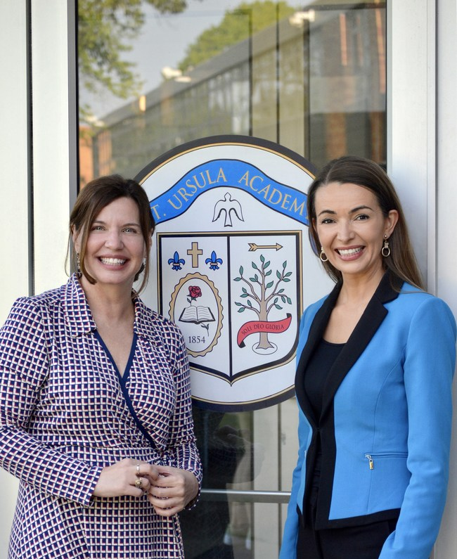 Lisa Cenca and Julie Carrier, Co-Founders of The Leadership Program for Girls. Photo Credit: St. Ursula Academy