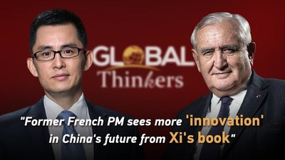 """CGTN: A partir del libro de Xi, un ex primer ministro francés ve más """"innovación"""" en el futuro de China (PRNewsfoto/CGTN)"""