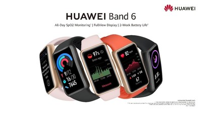 HUAWEI Band 6 (CNW Group/Huawei Consumer Business Group)