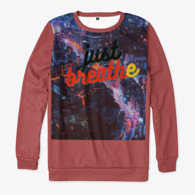 All-Over Print Sweatshirt From Just Breathe Collection