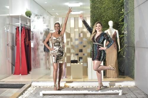 Flavia e Ranielli brilham na inauguração da franquia PowerLook em Manaus (PRNewsfoto/PowerLook)