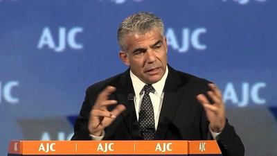 Yair Lapid Addresses 2015 AJC Global Forum in Washington, DC.
