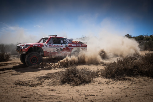 The Honda Baja Ridgeline Race Truck conquered the Baja 500 for the fourth consecutive time this weekend, taking the Class 7 win.