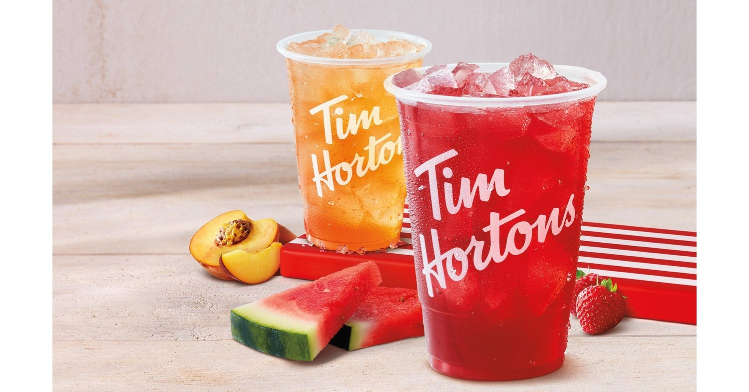 Tim Hortons launches new Tims Real Fruit Quenchers in Strawberry Watermelon  and Peach flavours to keep Canadians refreshed all summer long!