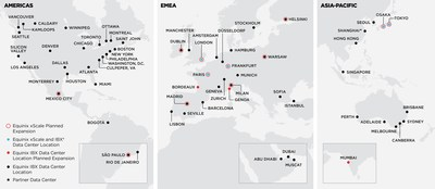 Equinix xScale and IBX Data Center Location Map