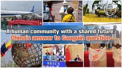 CGTN: una comunidad humana con un futuro compartido: la respuesta de China a la pregunta de Gauguin (PRNewsfoto/CGTN)