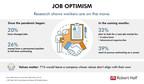Robert Half Research Points To Strong Job Optimism Among U.S....