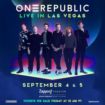 OneRepublic at Zappos Theater at Planet Hollywood Resort & Casino