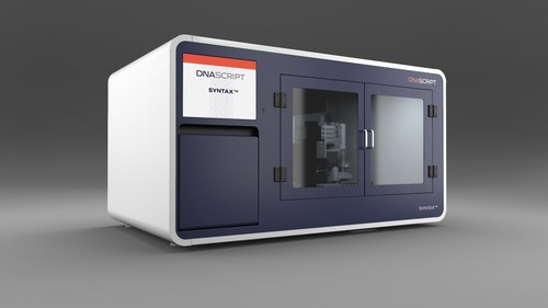 DNA Script, a pioneer in DNA printing on demand, announced the commercial launch of their SYNTAX platform with their first product, the SYNTAX System, the first benchtop nucleic acid printer powered by Enzymatic DNA Synthesis (EDS) technology.