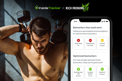 """InsideTracker, the leading ultra-personalized performance system, created the Limited Edition InsideTracker x Rich Froning Panel in collaboration with the eight-time CrossFit Games Champion and four-time """"Fittest Man on Earth,"""" letting athletes test up to 33 blood biomarkers focused specifically on strength, recovery and resilience."""