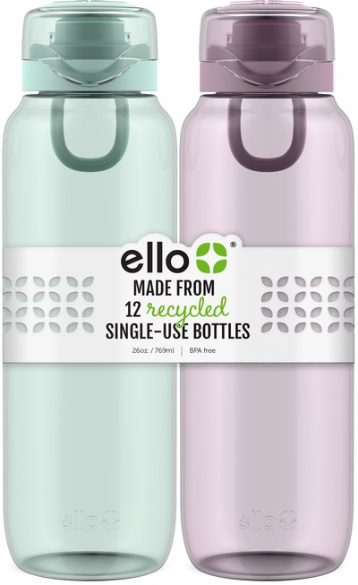 The Eco Ello Bottle made with Tritan™ Renew from Eastman is now available at Target stores and online.