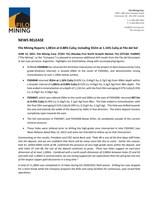 Filo Mining Reports 1,081m at 0.88% CuEq; including 352m at 1.16% CuEq at Filo del Sol (CNW Group/Filo Mining Corp.)