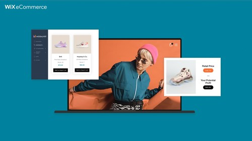 Wix eCommerce merchants connect to a vast supplier marketplace synced directly to their store to sell and fulfill online
