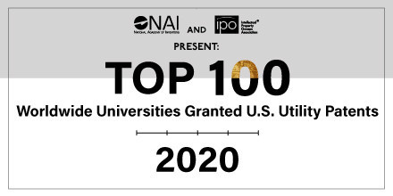 NAI Announces Top 100 Worldwide Universities Granted U.S. Utility Patents in 2020 (PRNewsfoto/National Academy of Inventors)
