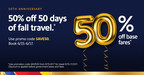 Hurry To Book 50% Off Base Fares! Southwest Airlines' Big Offer...