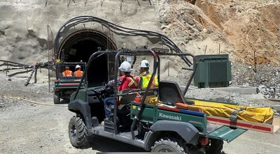 Underground portal at Granite Creek Mine Project (CNW Group/i-80 Gold Corp)