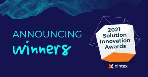 Nintex today announced 18 winners of the 2021 Nintex Solution Innovation Awards, including this year's 2021 Nintex Champion - Coca-Cola Beverages Florida. Three top partner organizations - Publicis Sapient, Hub Collab, and System RKK Pte Ltd - also received a 2021 Nintex Partner Award in Business Transformation for helping customers digitally transform.