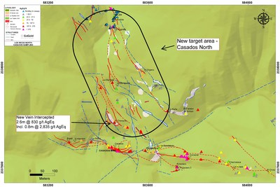 Figure 5 – Casados North Sampling Map (CNW Group/GoGold Resources Inc.)