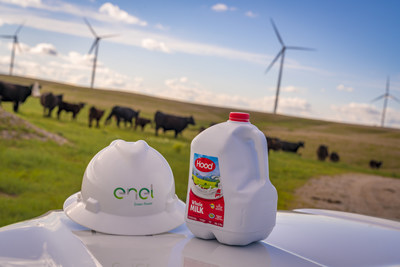 Enel Green Power and HP Hood LLC signed a 12-year power purchase agreement for 90 GWh of renewable energy annually from the Azure Sky wind project, addressing 33 percent of the electricity used across all 13 of Hood's owned manufacturing facilities in 2020.