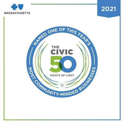 Blue Cross Blue Shield of Massachusetts named by Points of Light to 2021 Civic 50