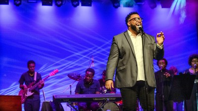 """Marvin Gaye, the """"Prince of Motown,"""" comes alive on stage with Lawrence Miles' performance in the June 29 concert """"A Celebration of Black Music: Music is the Window to Our Souls."""""""